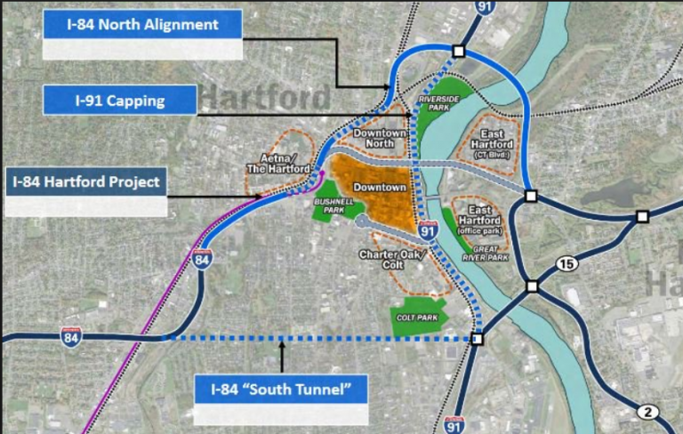 2017 DOT plans for modifying Hartford's freeway infrastructure fix the congestion problems caused by the interchange.