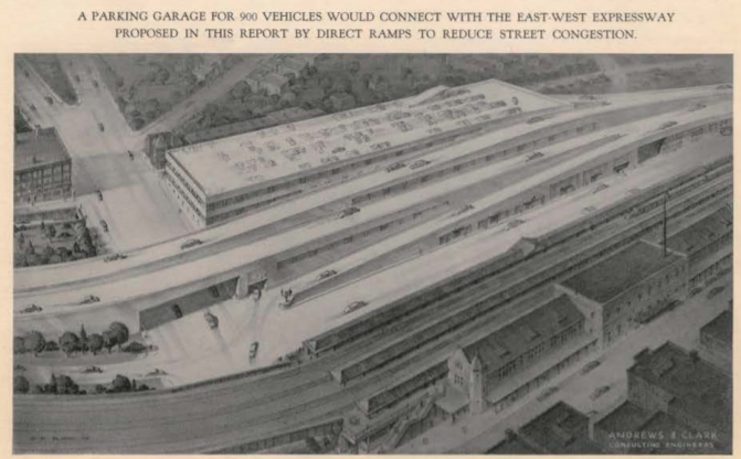 Images taken from the original 1949 Anderson and Clark Engineering proposal for the interchange.
