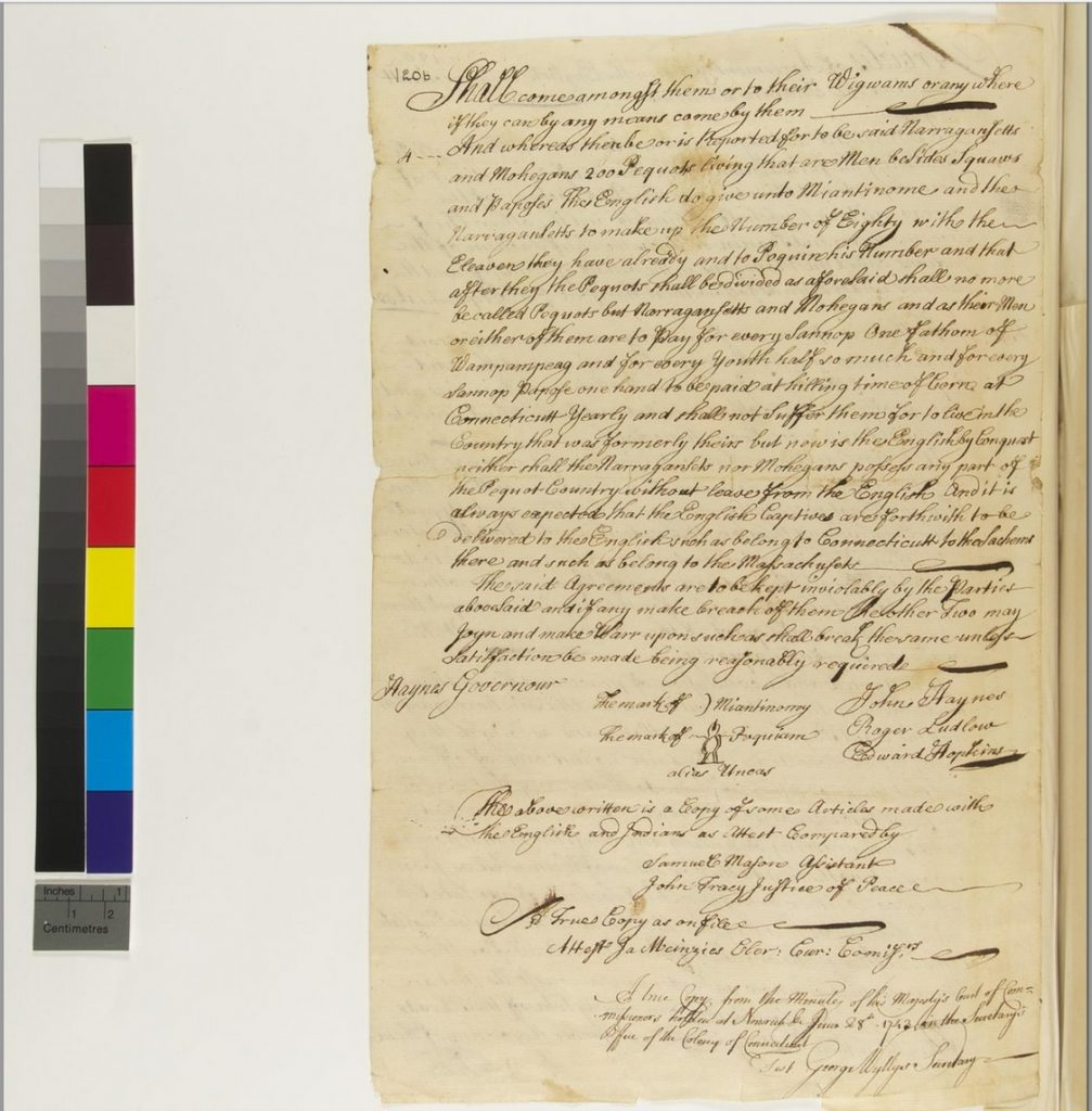 Page Two of Treaty of Hartford
